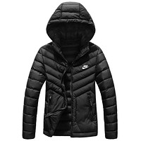 NIKE winter new light down cotton padded women's cotton coat Black