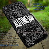 All Time Low Songs Title Quote Art iPhone 6s 6 6s+ 5c 5s Cases Samsung Galaxy s5 s6 Edge+ NOTE 5 4 3 #music #atl dt