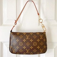LV Bag Women Wrist Bag Coffee Print Bag