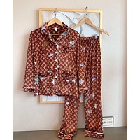 LV Louis Vuitton Fashion Woman Girld More Print Pajamas Louis vuitton leisure wear two piece