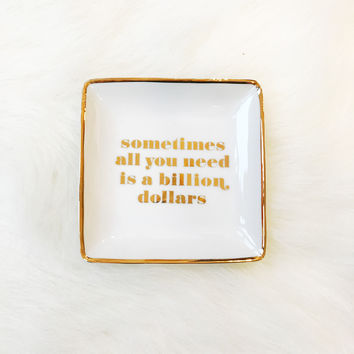Decorative Square Tray - Billion Dollars