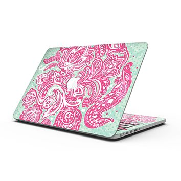 Red and Green Floral Ethnic - MacBook Pro with Retina Display Full-Coverage Skin Kit