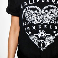 Maryanne California Angels Slogan T-Shirt