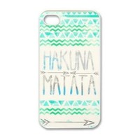 amtonseeshop Nice Brand New Stylish Hot Aztec Tribal Pattern Case (Hakuna Matata green for iPhone 4 4G 4S)