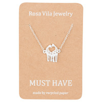 Giraffe Necklace - Cute Animal Necklace for Everyday Wear