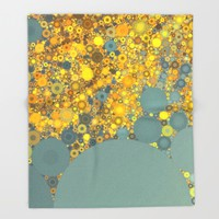 Sunshine and Clouds Throw Blanket by Olivia Joy StClaire