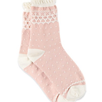 Dot Pattern Ruffled Socks