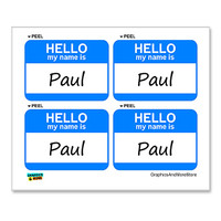 Paul Hello My Name Is - Sheet of 4 Stickers