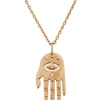 Hand And Eye Diamond Necklace