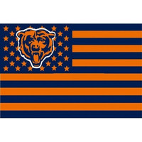 3X5FT Chicago Bears flag US striped banners custom 100D digital printing free shipping