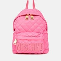 Moschino Nylon Quilted Logo Backpack - WOMEN - Bags & Wallets - Moschino - OPENING CEREMONY