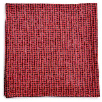 Foxhound Pocket Square in Red by High Cotton