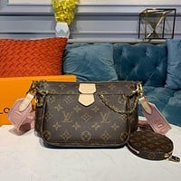 lv louis vuitton womens leather shoulder bag satchel tote bags crossbody 461