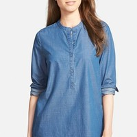 Women's Nordstrom Collection Denim Tunic Shirt,
