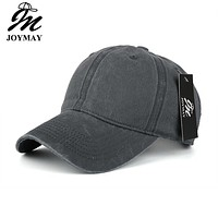 High quality Washed Cotton Adjustable Solid color  Baseball Cap Unisex couple cap Fashion Leisure Casual HAT Snapback cap