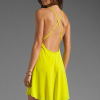 Naven Babydoll Dress in Chartreuse from REVOLVEclothing.com