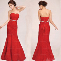 lace prom dresses, red prom dresses, long prom dresses, prom dresses 2014, cheap prom dresses, dresses for prom, prom dresses on sale, RE549