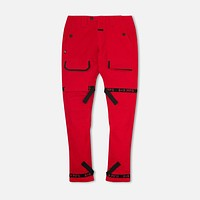 Strapped Up Utility Pant Red