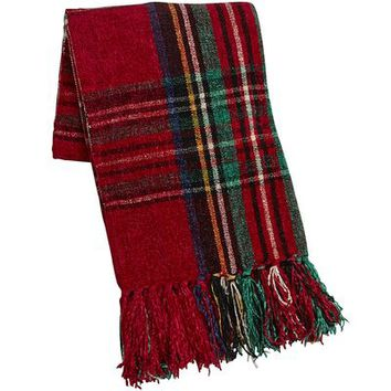 Stewart Plaid Chenille Throw