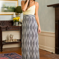Along The Road Maxi Dress, Yellow-Black