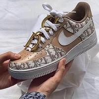 Dior Nike Air Force One Fashion Casual Shoes