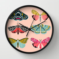 Lepidoptery No. 1 by Andrea Lauren Wall Clock by Andrea Lauren Design