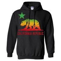 California Republic Rasta Bear Flag Asst Colors Sweatshirt Hoodie by DSC