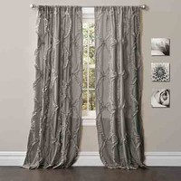 Lush Decor C22023P14-000 Avon Gray 84 x 54-Inch Window Curtain Single Panel