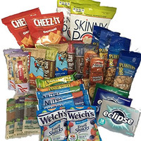 Natural & Healthy Snacks Care Package by AtHomePlus (30 Count) --Perfect Gift for College, Military or Office!!