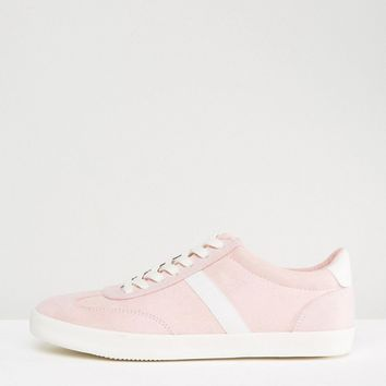 ASOS DELPHINE Stripe Lace Up Sneakers at asos.com