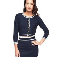 Cropped Fitted Cardigan by Juicy Couture