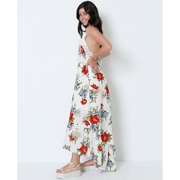 Can't Get Over Flower Maxi Dress - Print