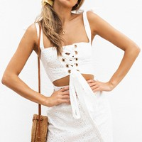 Kase Eyelet Dress - Dresses by Sabo Skirt