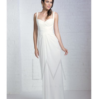 Lightly Beaded Bodice Ivory Gown Prom 2015
