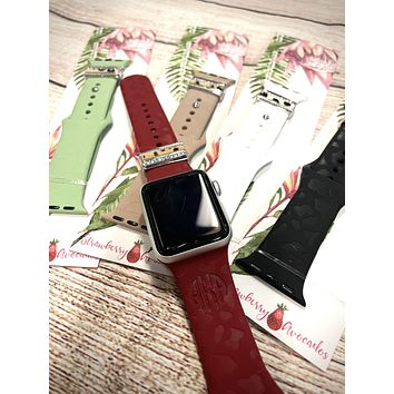 Leopard Print Silicone Apple Watch Bands