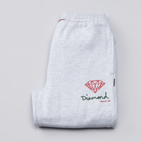 Flatspot - Diamond OG Logo Sweatpants Heather / Red / Green