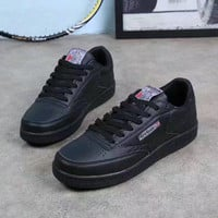 """""""Reebok"""" Fashion Casual Men Low Help Plate Shoes Sneakers Running Shoes"""