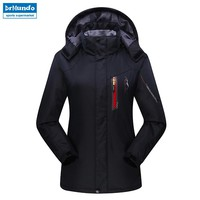 Women ski jacket Mountain Thicken Plus Size Fleece Ski-wear Waterproof Hiking Outdoor Snowboard Jacket Female Snow Jacket