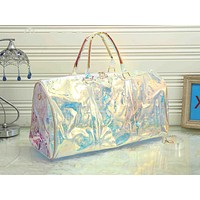 Inseva LV fashion casual men's and women's shopping bag hot seller with transparent printed gradient shoulder bag #1