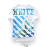 Off White Ocean Wave White Stripped T-Shirt