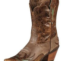 Ariat Dahlia Dainty Brown/Cognac Floral Cowgirl Boot