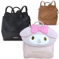 Big Cute Cartoon Hello Kitty My melody Backpacks Lovely Children Schoolbag Travel Bag Handbag For Girls Kids Gifts Good Quality