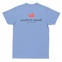 Authentic Tee in Washed Blue by Southern Marsh