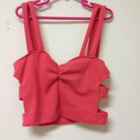 """""""Side Caged"""" Pink Bustier"""
