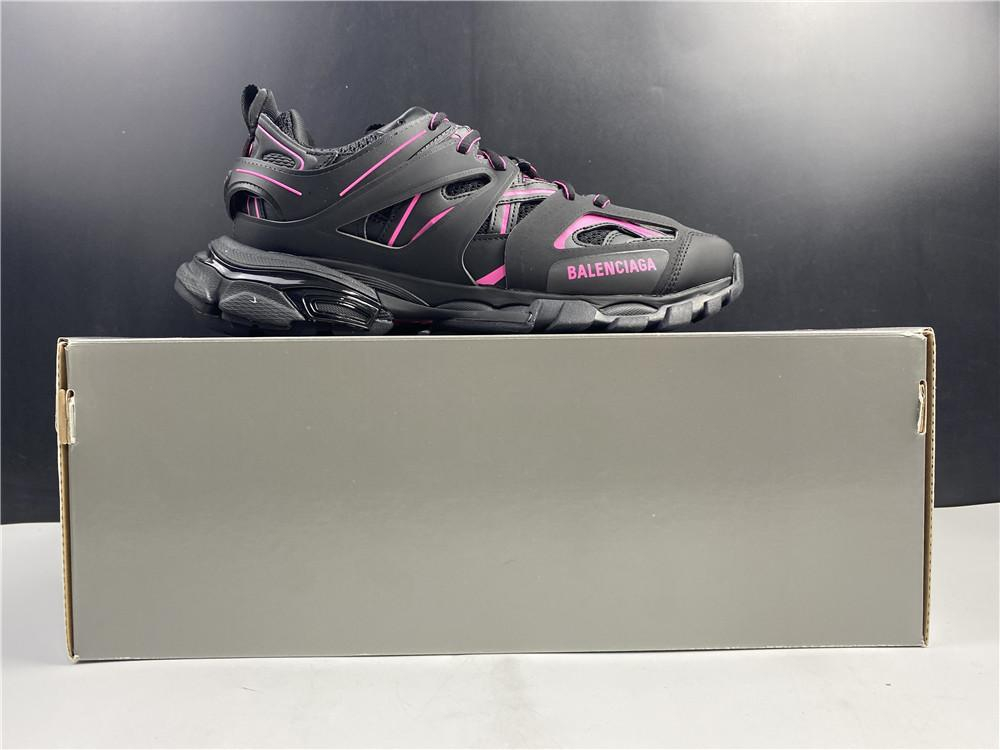 Image of Balenciaga Triple S Trainers All Black Pink Sneakers 36-45