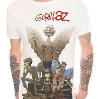 Gorillaz Gargoyle Slim-Fit T-Shirt 2XL Size : XX-Large
