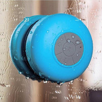 Mini Ultra Portable Waterproof Wireless Bluetooth Speaker with Suction Cup for Showers, Bathroom, Car, Outdoor