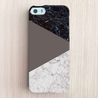 iPhone 6 Case, iPhone 6 Plus Case, iPhone 5S Case, iPhone 6, iPhone 5C Case, iPhone 4S Case, iPhone 4 Case - Marble Color Block Chocolate