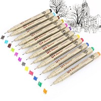 Micron Waterproof Drawing Pen Set - 12 Colors