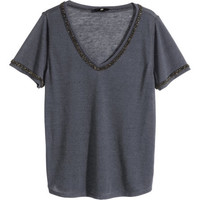 Beaded Jersey Top - from H&M